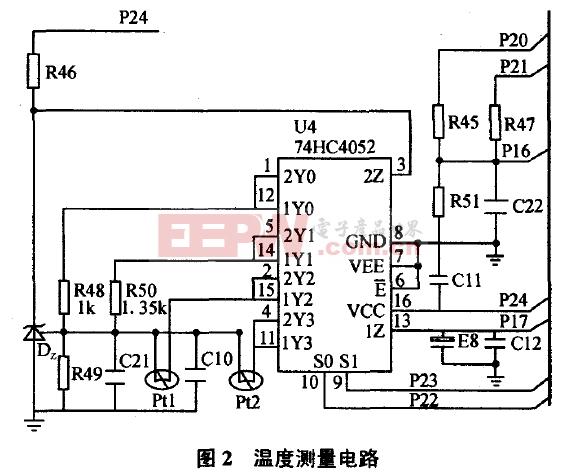 基于MSP430温度测量电路