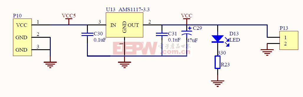 MS430F449典型供电电路
