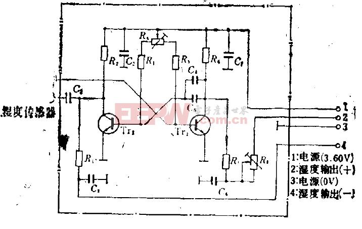温度探测器的转换电路
