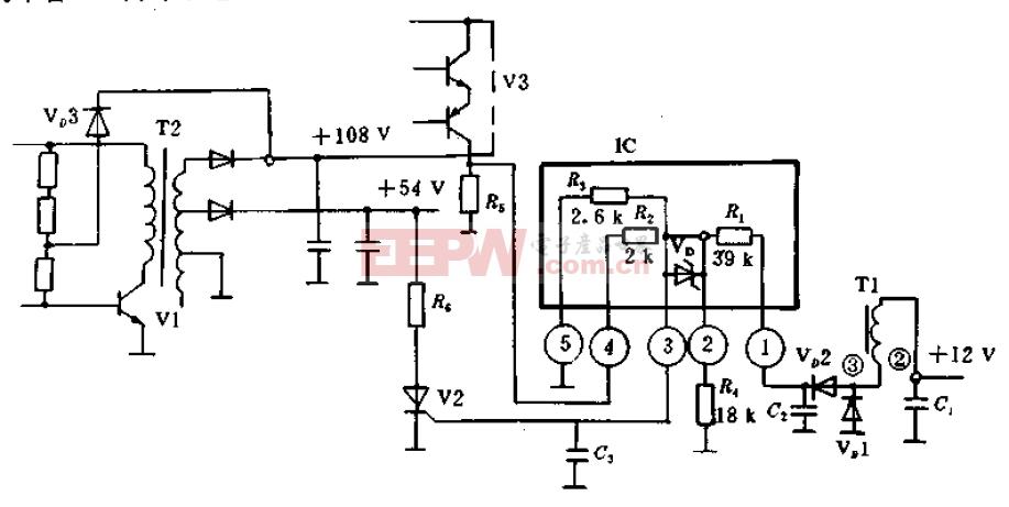 彩电中的保护电路原理图