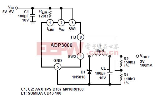 ADP3000 step-down模式操作
