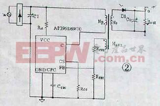 AP3968、6970电源管理芯片典型单输出应用
