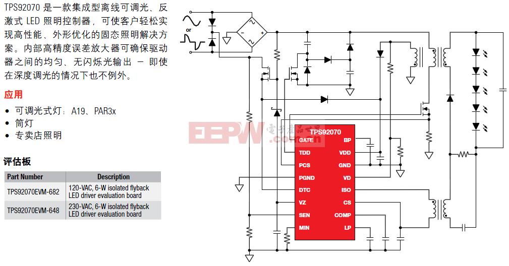 TPS9207用于多通道led系统的只能线性LED驱动