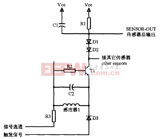 感应式传感器的硬件电路原理图