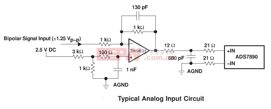 ADS7890典型输入电路