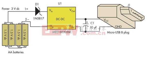 用5号AA电池做的USB手机充电器 B87c27fd3e042a4dff0fb93356f5f491