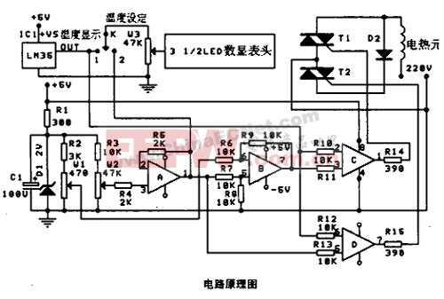 有簡單人工智能的溫度控制電路
