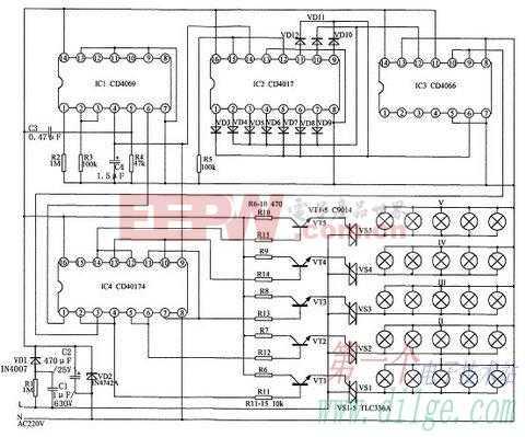 二维彩灯控制器电路分析与制作