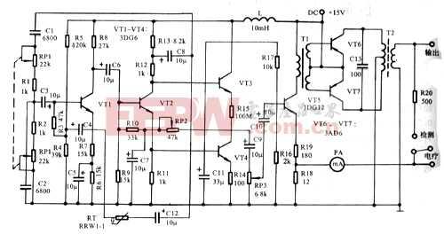 音频电疗仪 电路图 电子产品世界高清图片