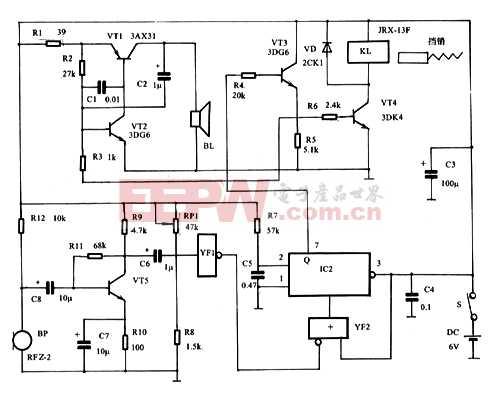 简易 心脏 监护器电路原理 电路图 电子产品世高清图片