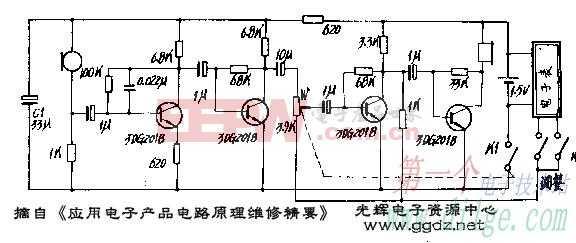 国产ZT-851型助听器电路