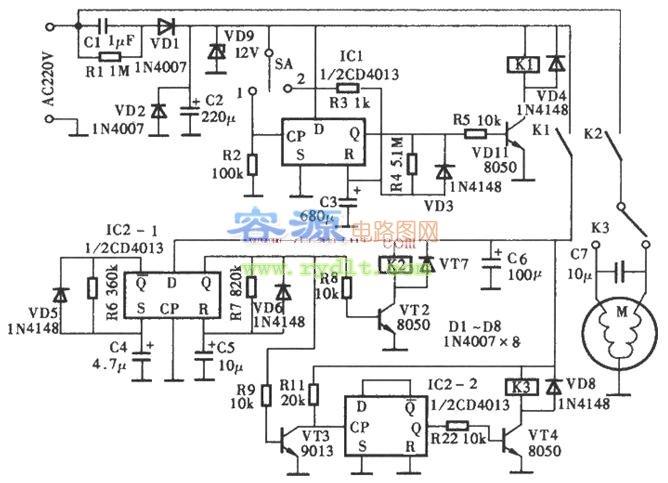 介绍 电路 洗衣机 定时器 cd4013/查看详细