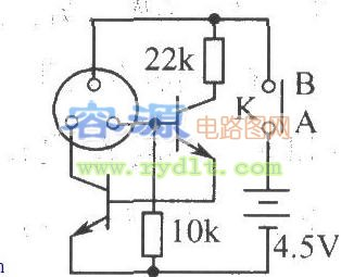 简单型激光电筒电路图图片