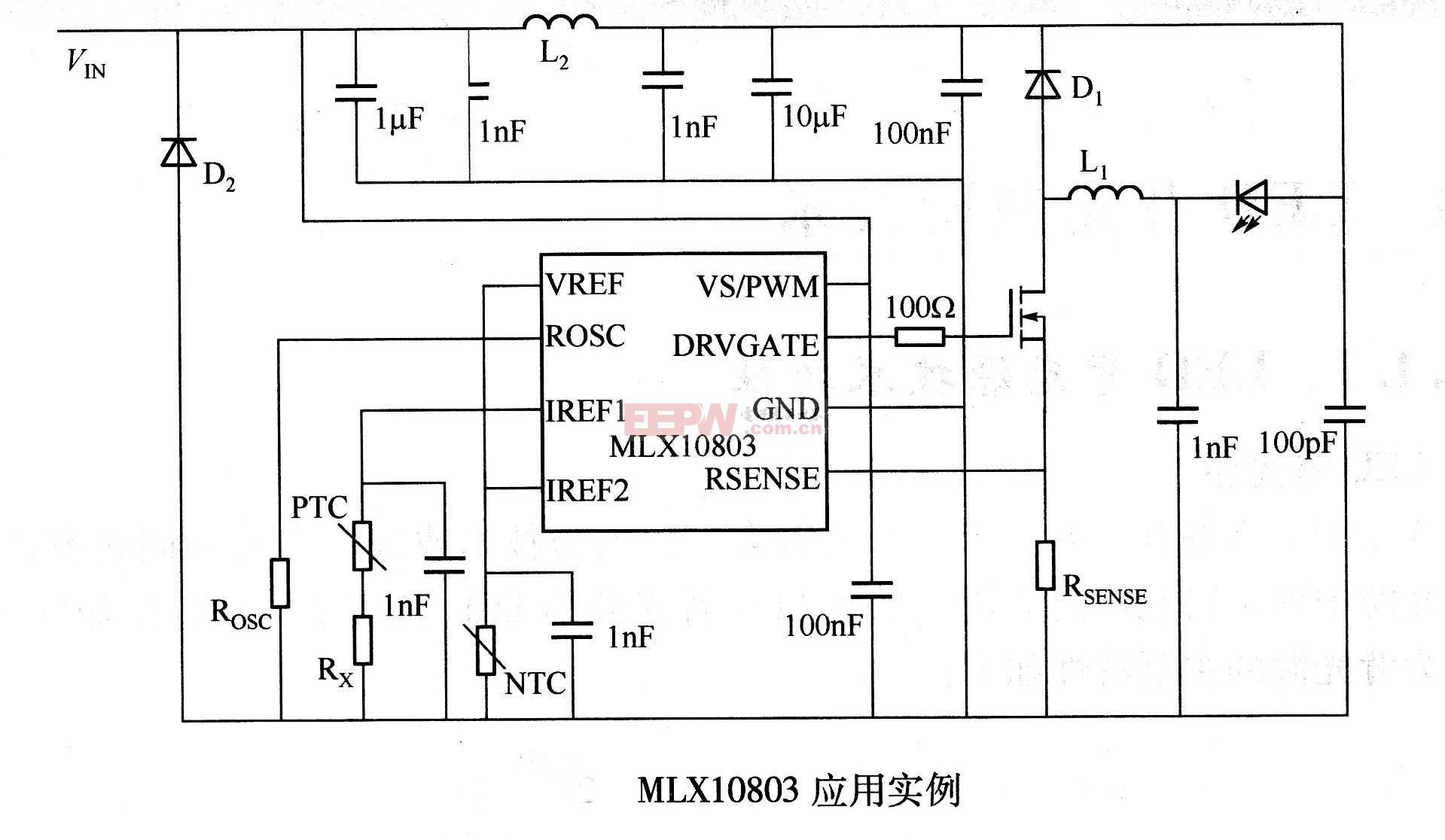 MLX10803应用电路