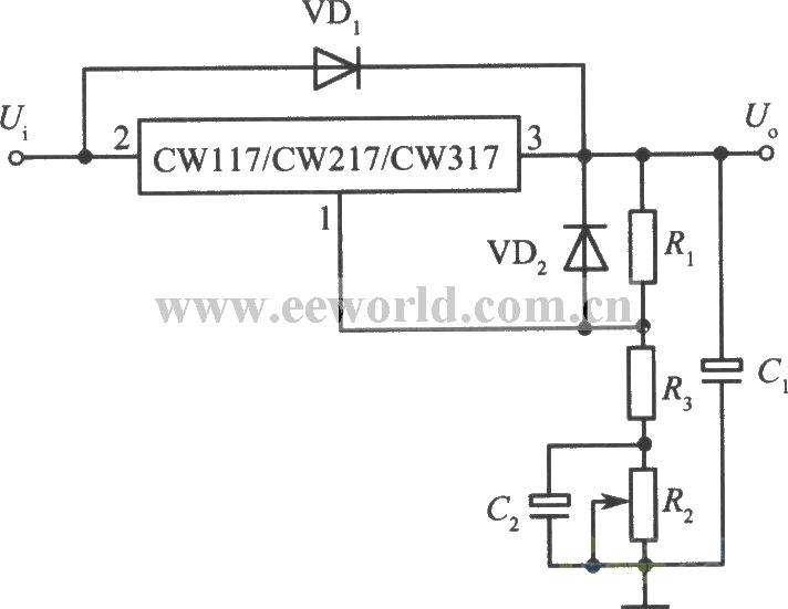 高精度高稳定性的+10V集成稳压电源