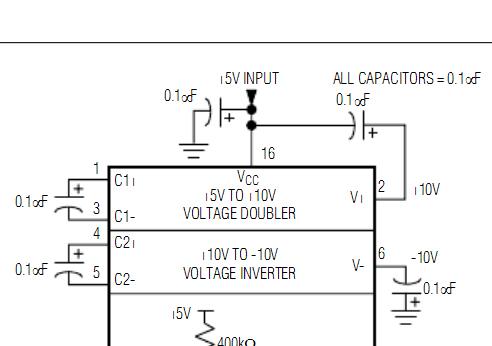 max232电荷泵的4个电容