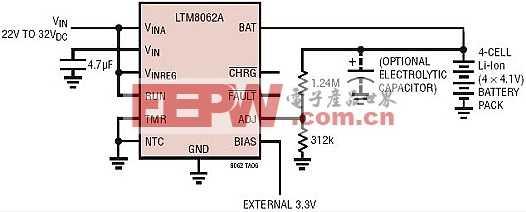 具 C/10 充电终止功能的基本型 2A、四节锂离子电池充电器