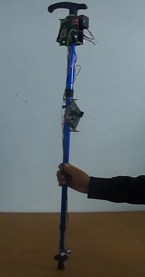 多功能智能盲人拐杖助手图片