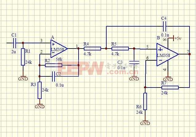 有源滤波器电路图设计问题