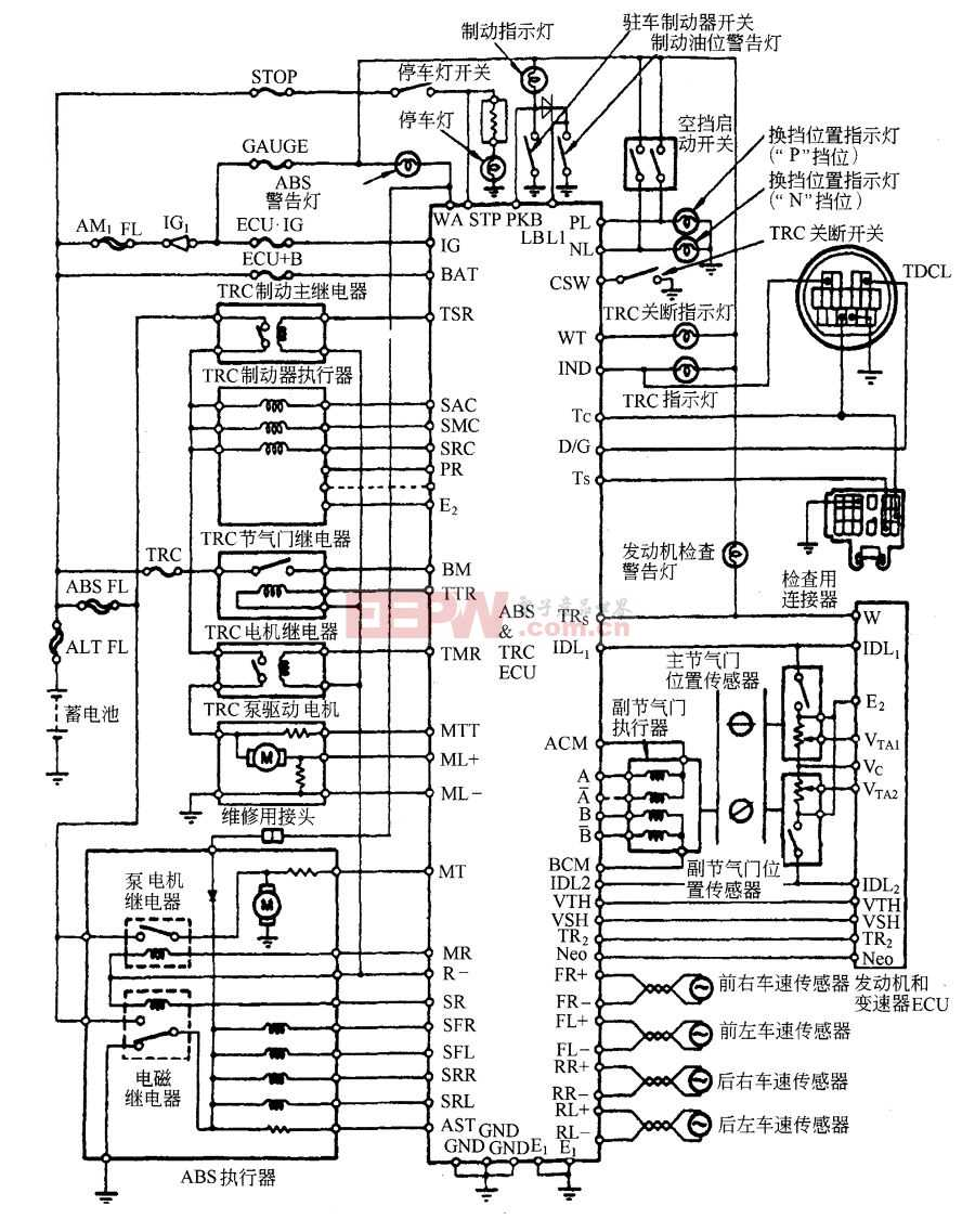 ABS防抱死制动系统电路图