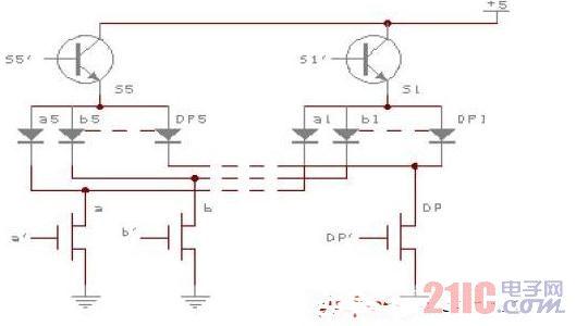 TEC9607共阳极LED数码显示驱动器