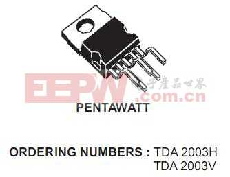 TDA2003 10W的汽車收音機音頻放大器