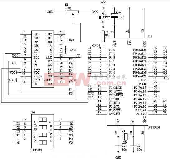 使用单片机制作的数字电压表