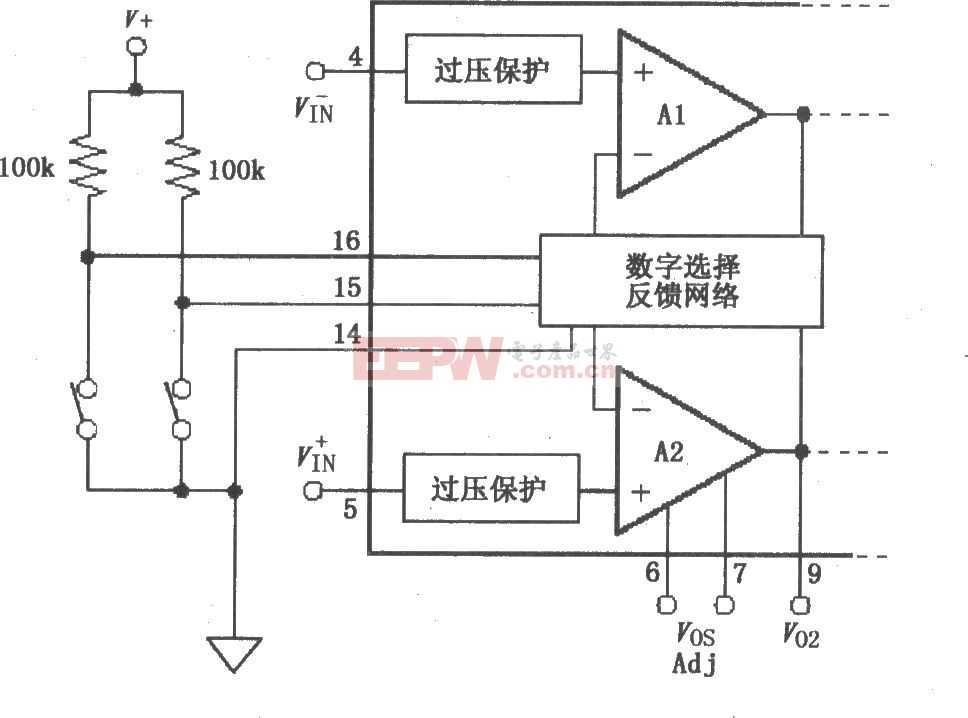 数字输入电路 PGA204/205