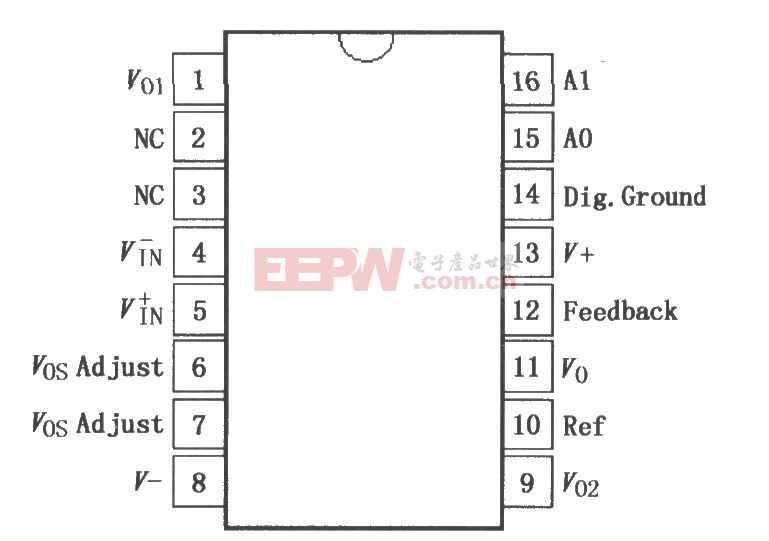 可编程增益仪表放大器PGA204/205 电路