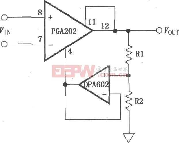 具有缓冲衰减的增益提升电路 PGA202