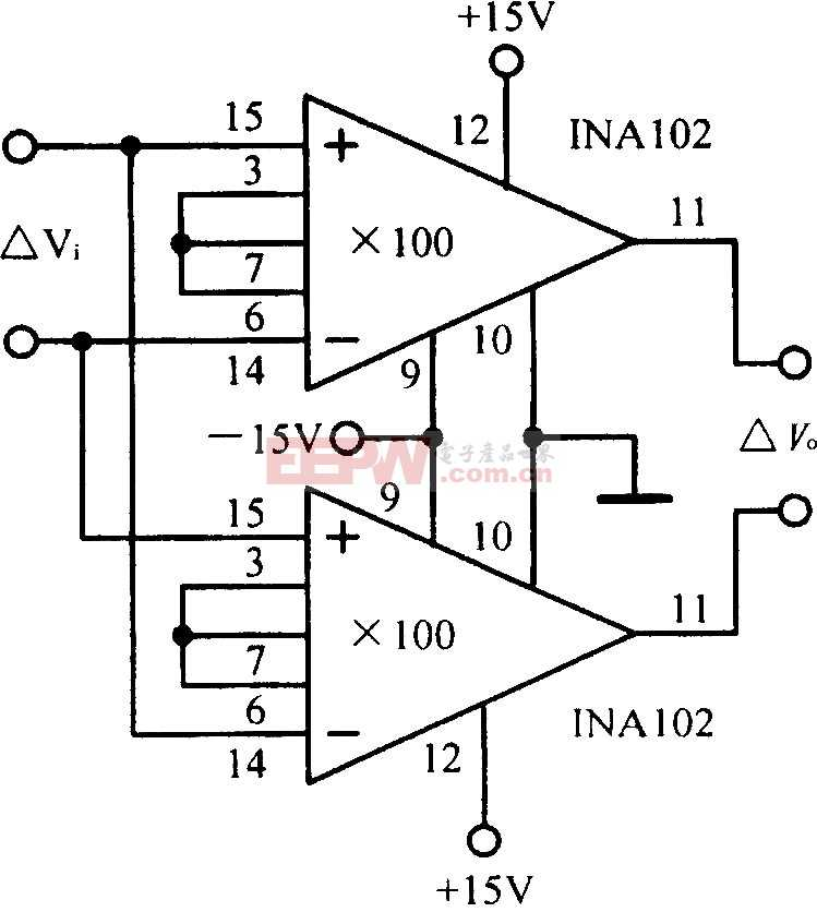 差动输入一差动输出放大电路图