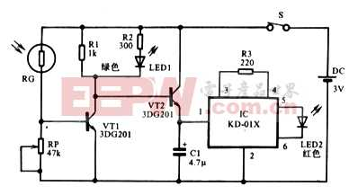 视力保护测光器电路原理图