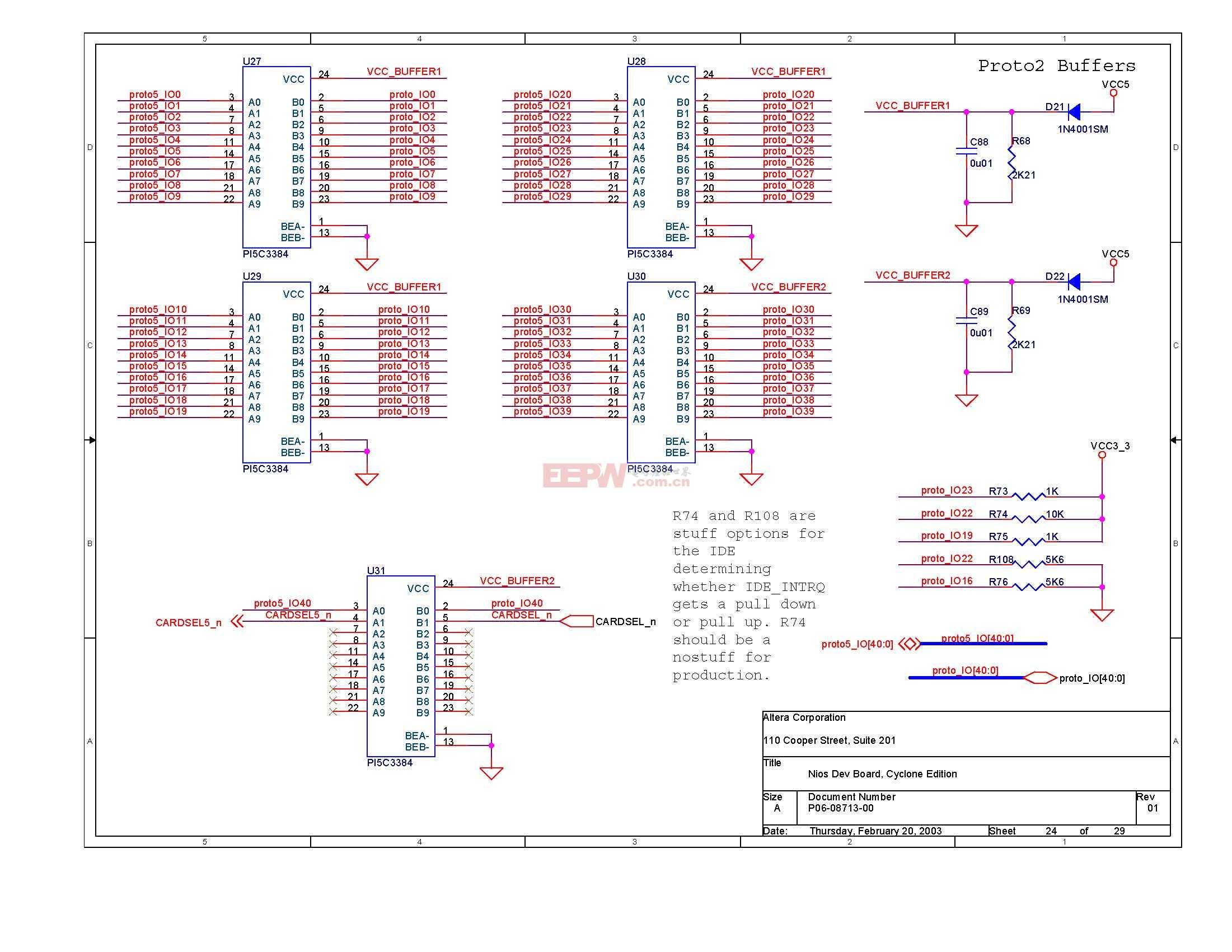 NIOS开发板电路图(Altera官方版)23