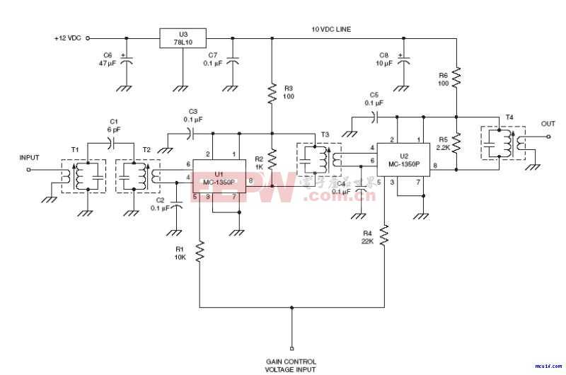 射频IF电路:Universal IF amplifier circuit