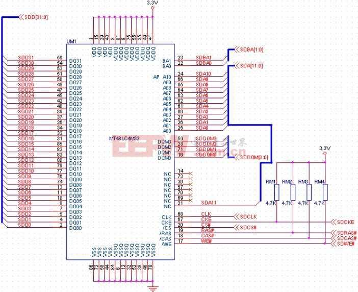 高速SDRAM存儲器接口電路設計