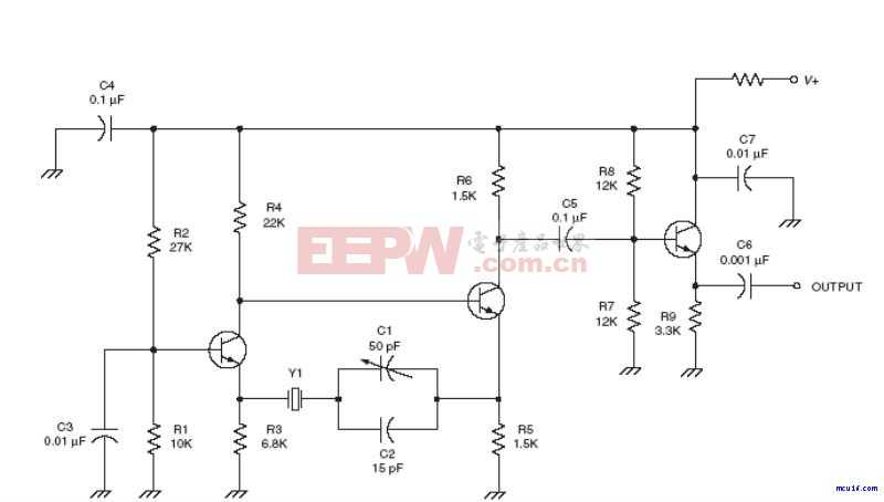 射频Oscillator电路:Buffered Butler oscillator RF circuit