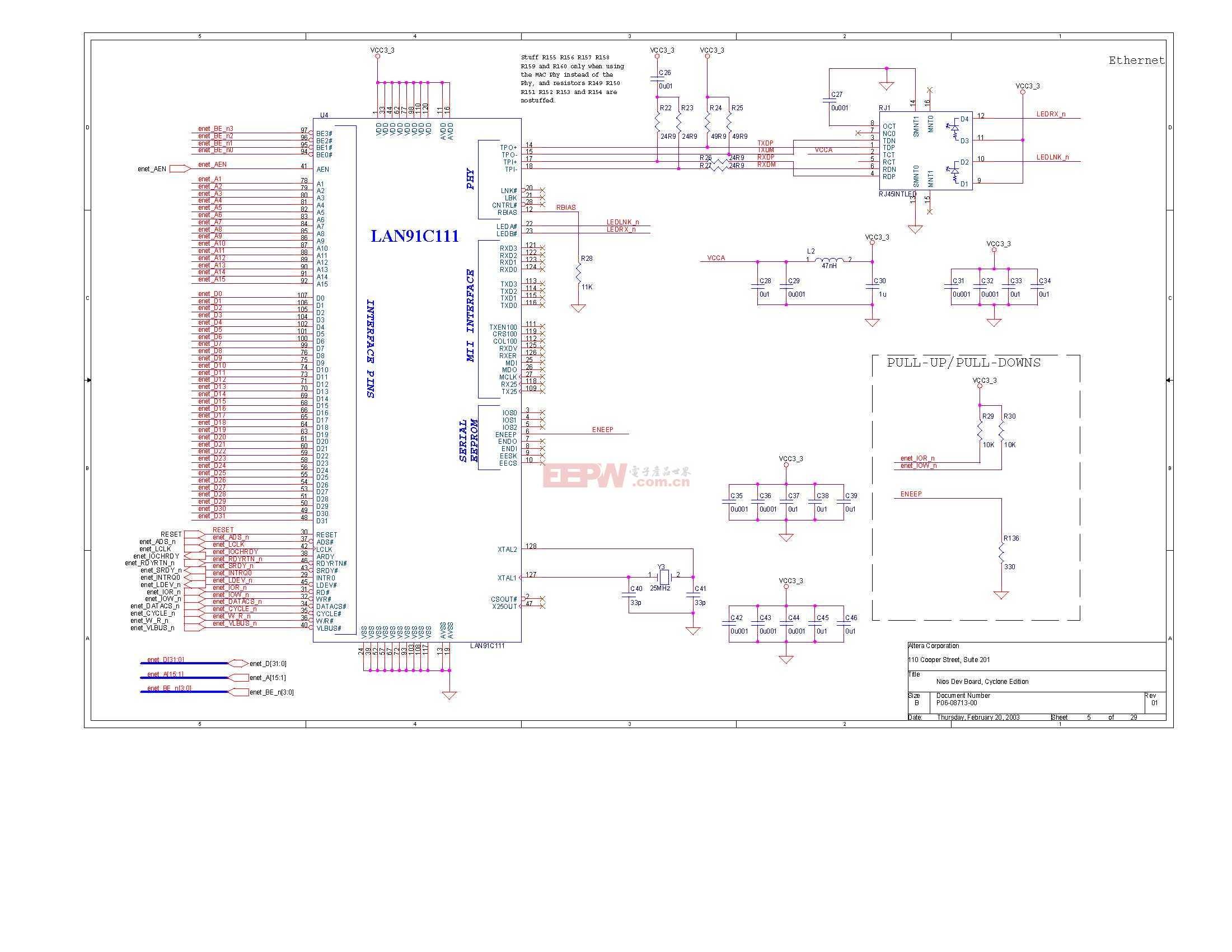 NIOS开发板电路图(Altera官方版)04