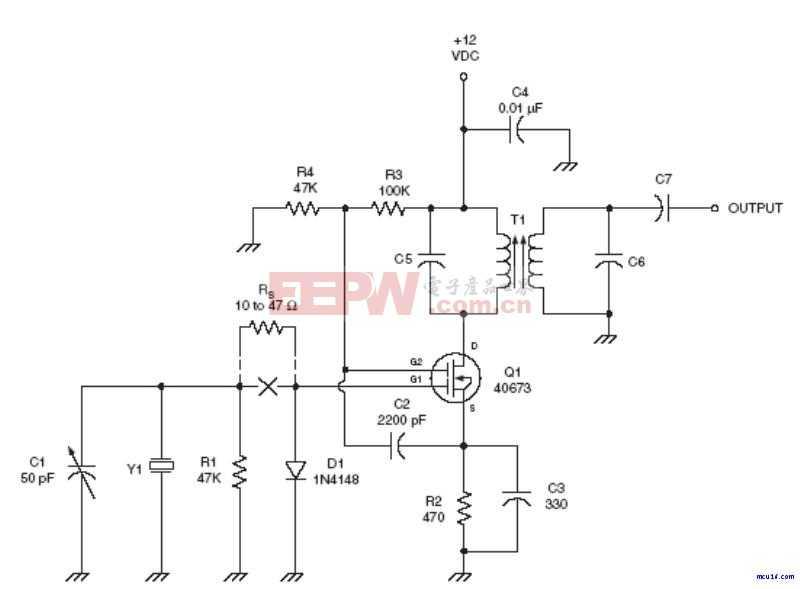 射频Oscillator电路:Tuned Miller oscillator RF circuit