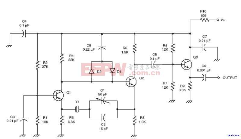 射频Oscillator电路:Improved Butler oscillator RF circuit