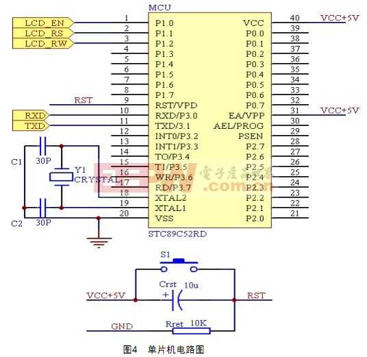 STC89C52单片机电路图
