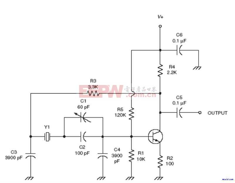 射频Oscillator电路:LP Pierce oscillator RF circuit
