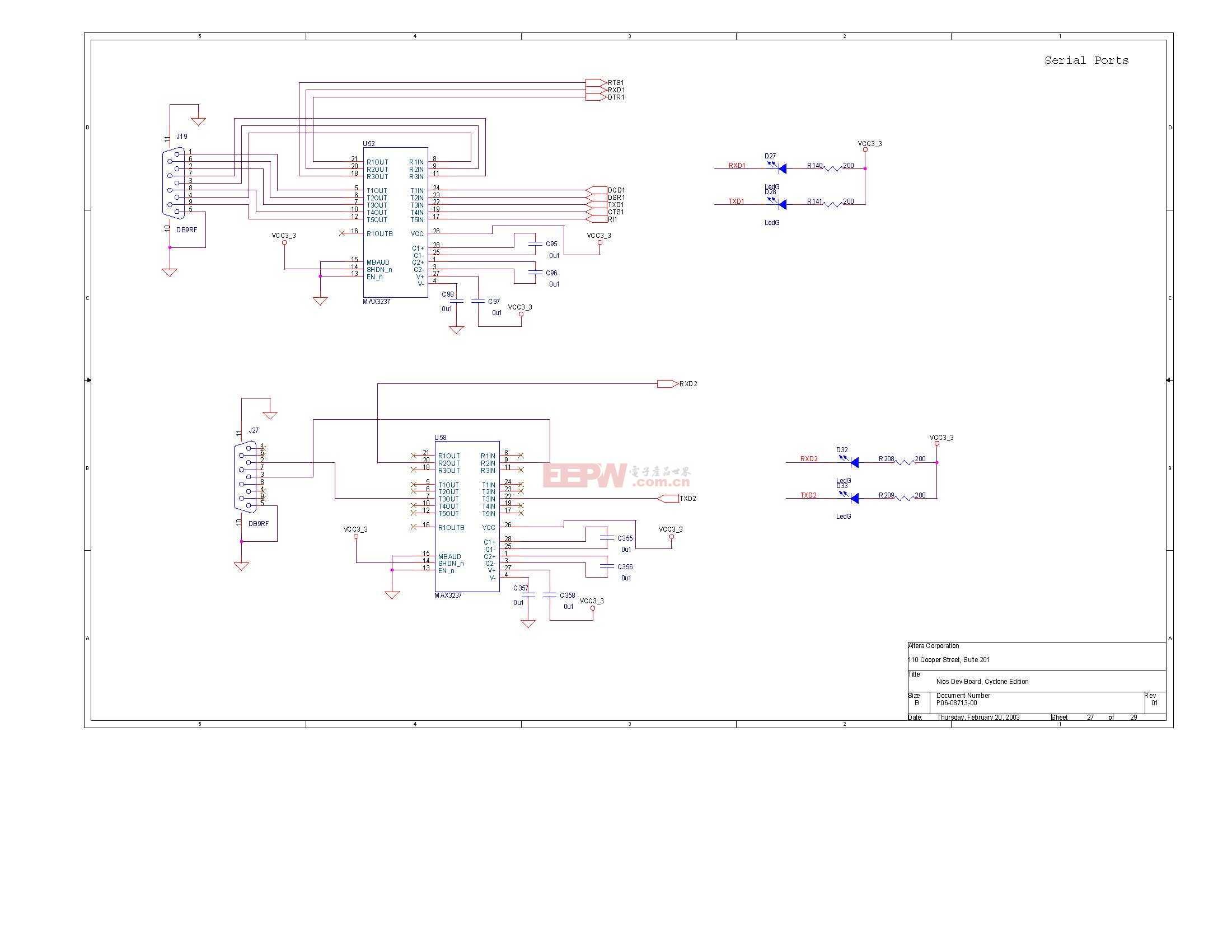 NIOS开发板电路图(Altera官方版)26
