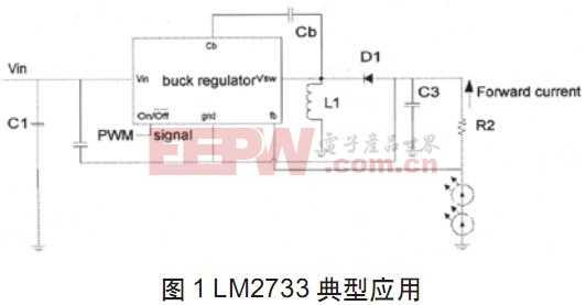 LM2733典型应用
