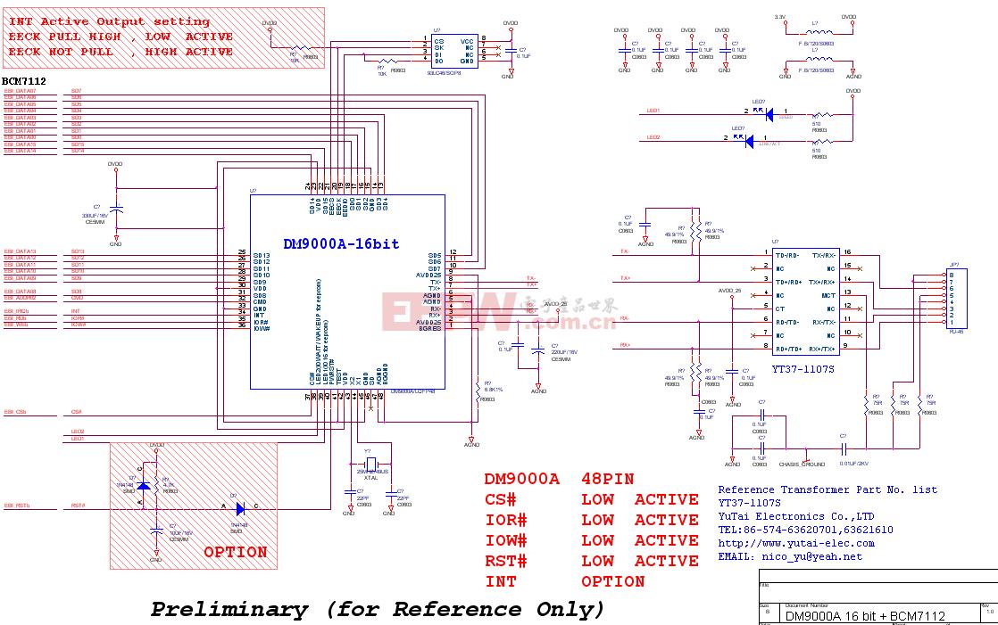 DM9000A-16 lan circuit Ver1.0