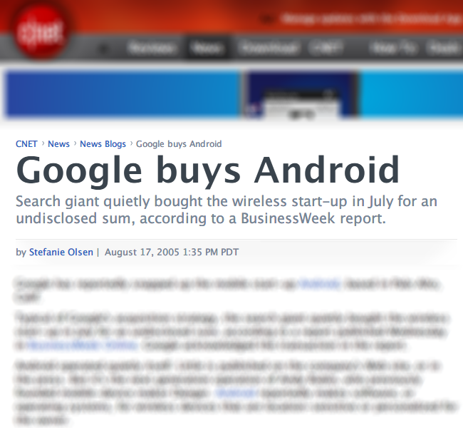 Google buys Android