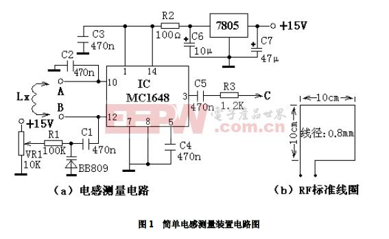 简单电感测量装置电路图