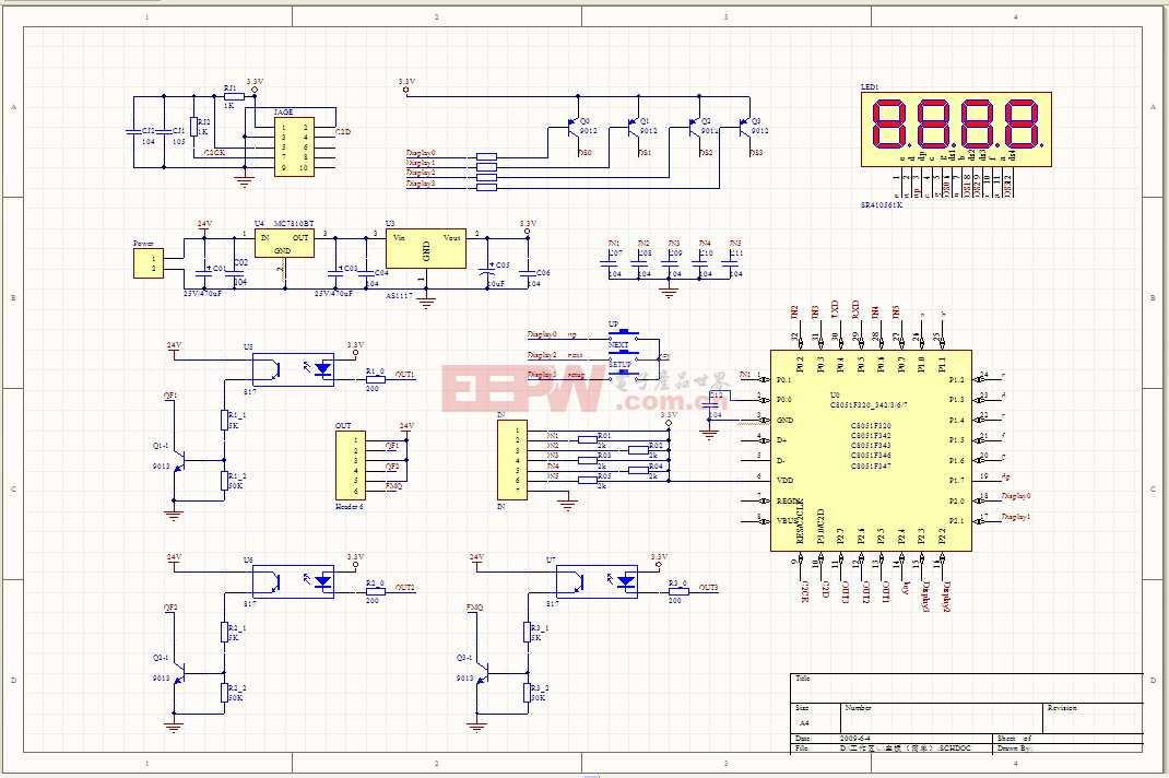 C8051F320制作的计数器