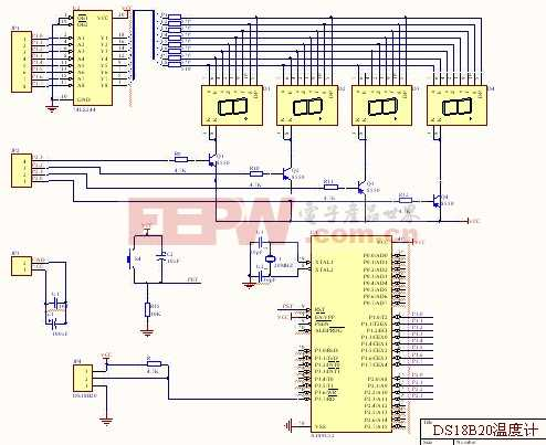 DS18B20温度计原理图