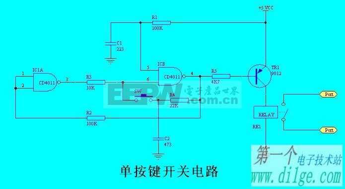 2007-02-23 14:24:13简单的单按键开关电路(已改错)
